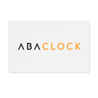 AbaClocK Badge Card
